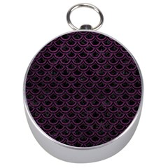 Scales2 Black Marble & Purple Leather (r) Silver Compasses by trendistuff