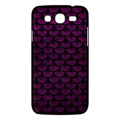 Scales3 Black Marble & Purple Leather Samsung Galaxy Mega 5 8 I9152 Hardshell Case  by trendistuff