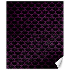 Scales3 Black Marble & Purple Leather (r) Canvas 20  X 24   by trendistuff