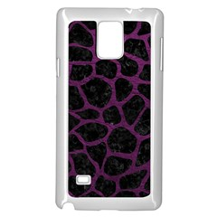 Skin1 Black Marble & Purple Leather Samsung Galaxy Note 4 Case (white) by trendistuff