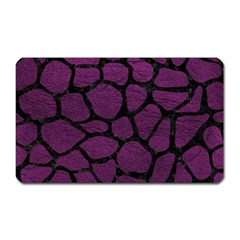 Skin1 Black Marble & Purple Leather (r) Magnet (rectangular) by trendistuff