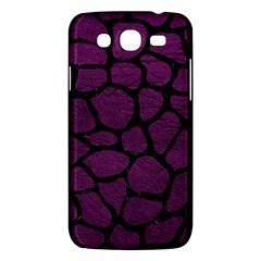 Skin1 Black Marble & Purple Leather (r) Samsung Galaxy Mega 5 8 I9152 Hardshell Case  by trendistuff
