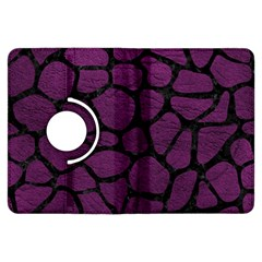 Skin1 Black Marble & Purple Leather (r) Kindle Fire Hdx Flip 360 Case by trendistuff