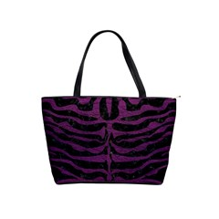 Skin2 Black Marble & Purple Leather (r) Shoulder Handbags by trendistuff