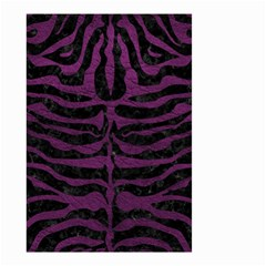 Skin2 Black Marble & Purple Leather (r) Small Garden Flag (two Sides) by trendistuff