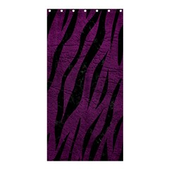 Skin3 Black Marble & Purple Leather Shower Curtain 36  X 72  (stall)  by trendistuff