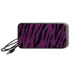 Skin3 Black Marble & Purple Leather Portable Speaker by trendistuff