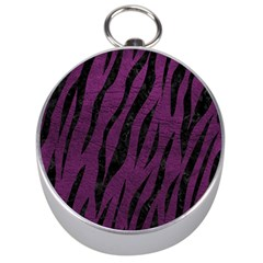 Skin3 Black Marble & Purple Leather Silver Compasses by trendistuff