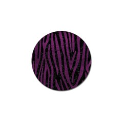 Skin4 Black Marble & Purple Leather Golf Ball Marker (10 Pack) by trendistuff