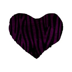 Skin4 Black Marble & Purple Leather Standard 16  Premium Flano Heart Shape Cushions by trendistuff