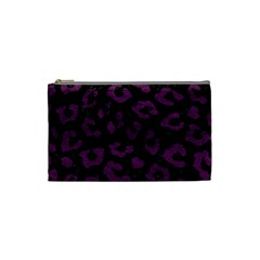 Skin5 Black Marble & Purple Leather Cosmetic Bag (small)  by trendistuff
