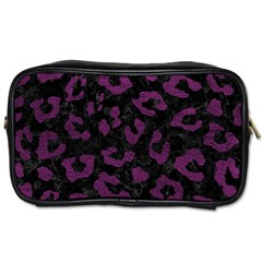 Skin5 Black Marble & Purple Leather Toiletries Bags by trendistuff