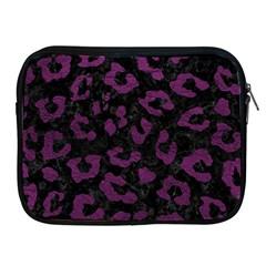 Skin5 Black Marble & Purple Leather Apple Ipad 2/3/4 Zipper Cases by trendistuff