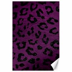Skin5 Black Marble & Purple Leather (r) Canvas 20  X 30   by trendistuff