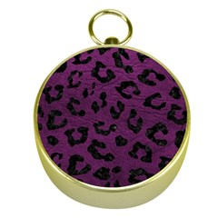 Skin5 Black Marble & Purple Leather (r) Gold Compasses by trendistuff