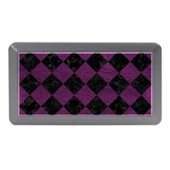 Square2 Black Marble & Purple Leather Memory Card Reader (mini) by trendistuff