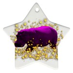 Pink Hippo Sparkle Ornament (Star)
