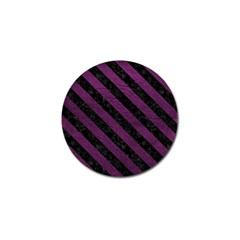 Stripes3 Black Marble & Purple Leather Golf Ball Marker (4 Pack) by trendistuff