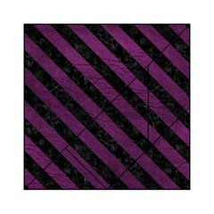 Stripes3 Black Marble & Purple Leather Acrylic Tangram Puzzle (6  X 6 ) by trendistuff