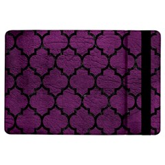Tile1 Black Marble & Purple Leather Ipad Air Flip by trendistuff