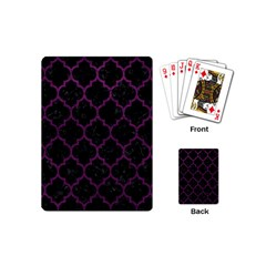 Tile1 Black Marble & Purple Leather (r) Playing Cards (mini)  by trendistuff