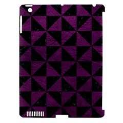 Triangle1 Black Marble & Purple Leather Apple Ipad 3/4 Hardshell Case (compatible With Smart Cover) by trendistuff