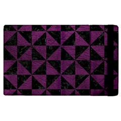 Triangle1 Black Marble & Purple Leather Apple Ipad 3/4 Flip Case by trendistuff