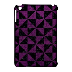 Triangle1 Black Marble & Purple Leather Apple Ipad Mini Hardshell Case (compatible With Smart Cover) by trendistuff