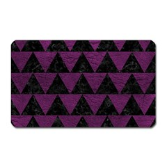 Triangle2 Black Marble & Purple Leather Magnet (rectangular) by trendistuff