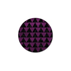 Triangle2 Black Marble & Purple Leather Golf Ball Marker (4 Pack) by trendistuff