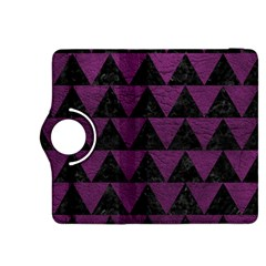 Triangle2 Black Marble & Purple Leather Kindle Fire Hdx 8 9  Flip 360 Case by trendistuff