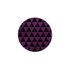 Triangle3 Black Marble & Purple Leather Golf Ball Marker (10 Pack) by trendistuff