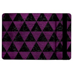 Triangle3 Black Marble & Purple Leather Ipad Air 2 Flip by trendistuff