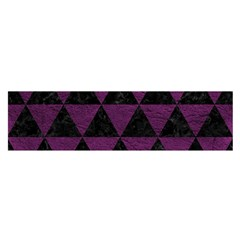 Triangle3 Black Marble & Purple Leather Satin Scarf (oblong) by trendistuff