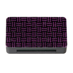 Woven1 Black Marble & Purple Leather (r) Memory Card Reader With Cf by trendistuff