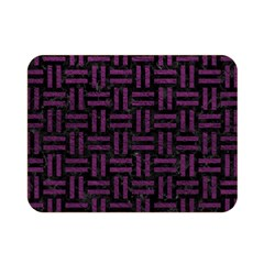 Woven1 Black Marble & Purple Leather (r) Double Sided Flano Blanket (mini)