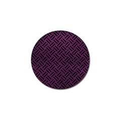 Woven2 Black Marble & Purple Leather Golf Ball Marker (10 Pack) by trendistuff