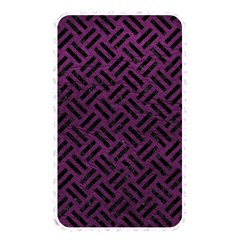 Woven2 Black Marble & Purple Leather Memory Card Reader by trendistuff
