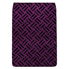 Woven2 Black Marble & Purple Leather Flap Covers (s)  by trendistuff