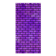 Brick1 Black Marble & Purple Watercolor Shower Curtain 36  X 72  (stall)  by trendistuff