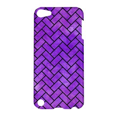 Brick2 Black Marble & Purple Watercolor Apple Ipod Touch 5 Hardshell Case by trendistuff