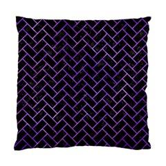 Brick2 Black Marble & Purple Watercolor (r) Standard Cushion Case (two Sides) by trendistuff