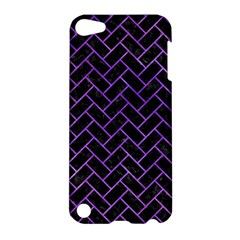 Brick2 Black Marble & Purple Watercolor (r) Apple Ipod Touch 5 Hardshell Case by trendistuff