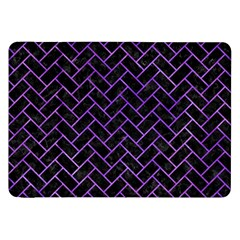 Brick2 Black Marble & Purple Watercolor (r) Samsung Galaxy Tab 8 9  P7300 Flip Case by trendistuff