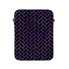Brick2 Black Marble & Purple Watercolor (r) Apple Ipad 2/3/4 Protective Soft Cases by trendistuff