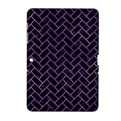 Brick2 Black Marble & Purple Watercolor (r) Samsung Galaxy Tab 2 (10 1 ) P5100 Hardshell Case  by trendistuff