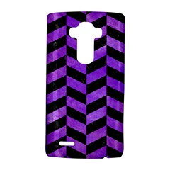 Chevron1 Black Marble & Purple Watercolor Lg G4 Hardshell Case by trendistuff