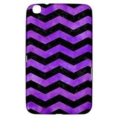 Chevron3 Black Marble & Purple Watercolor Samsung Galaxy Tab 3 (8 ) T3100 Hardshell Case  by trendistuff