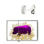 Pink Hippo Sparkle Flip Top Lighter