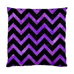 Chevron9 Black Marble & Purple Watercolor (r) Standard Cushion Case (one Side) by trendistuff